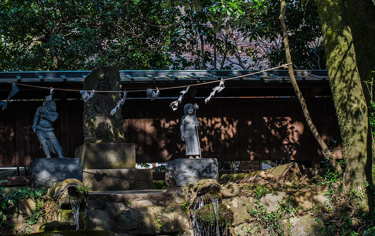 Statues by a Shrine